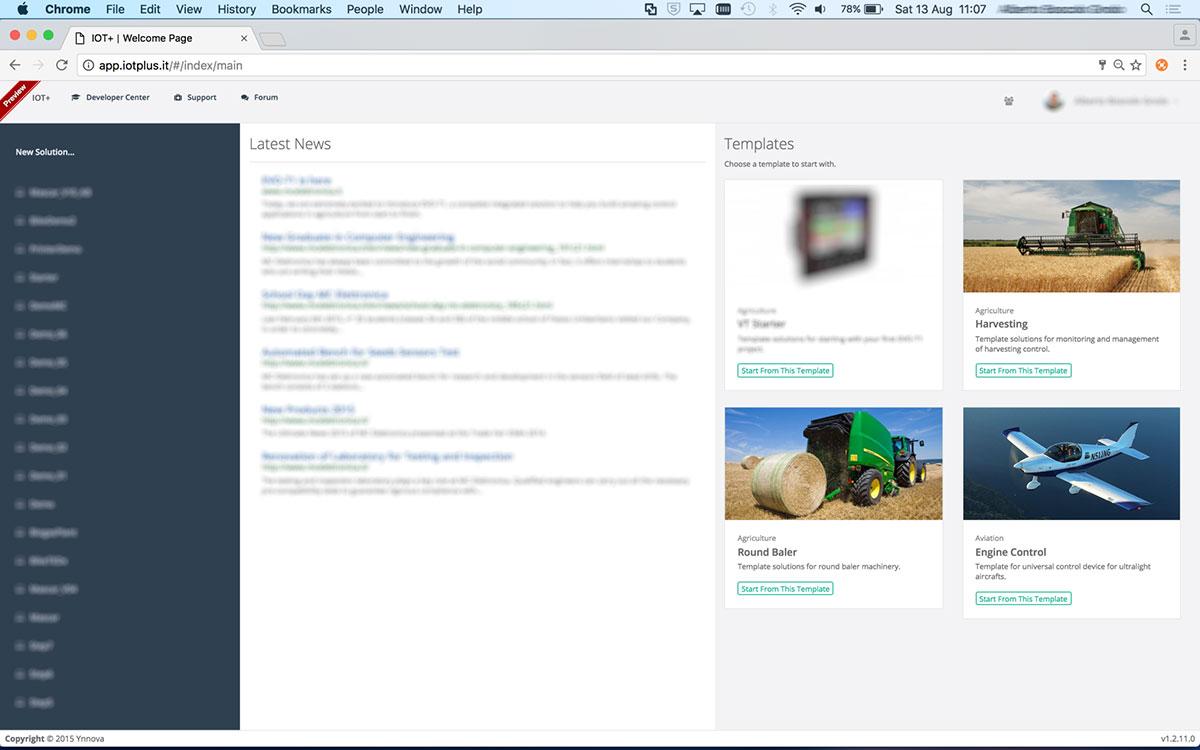 Programmazione ambiente di sviluppo Ynnova Home IOT+