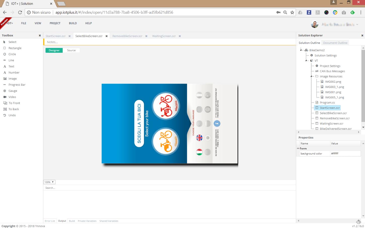 IOT+ IDE visual designer ambiente di sviluppo online