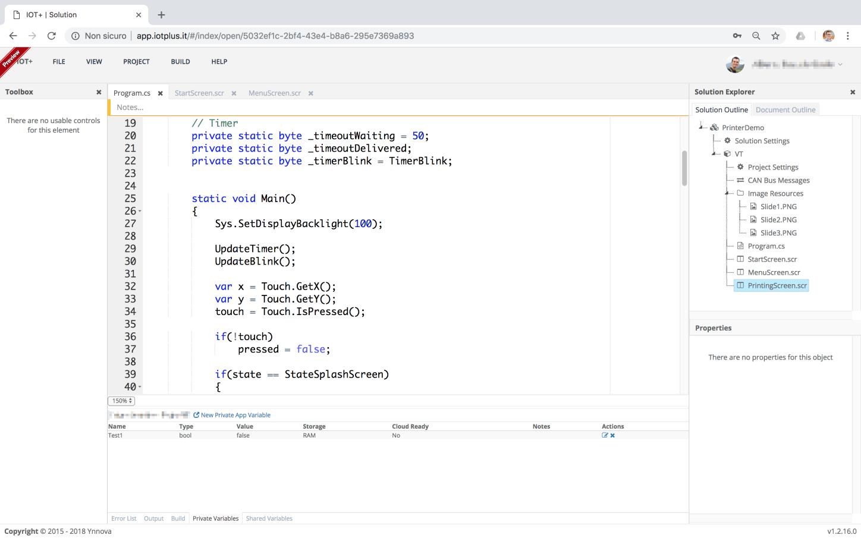 Programmazione: ambiente di sviluppo semplificato online